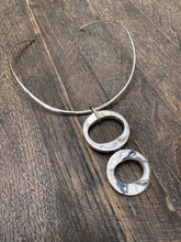 Load image into Gallery viewer, Large Two Zeros Silver Pendant (Pendant Only) - Mon Bijoux