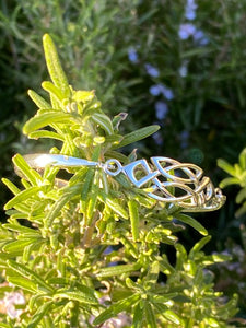 Celtic Sterling Silver Bangle - Mon Bijoux