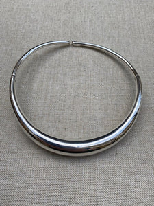 Bold and the Beautiful Sterling Silver Torque Collar Necklace