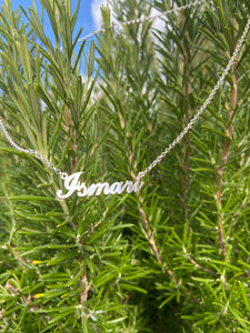 sterling silver nameplate necklace personalized name necklace