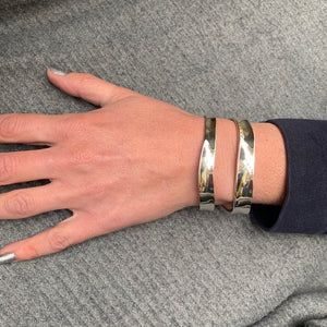 Thick Double Stripe Cuff Bracelet Bangle - Mon Bijoux