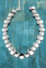 Load image into Gallery viewer, Sterling Silver Shapes Bib Necklace - Mon Bijoux