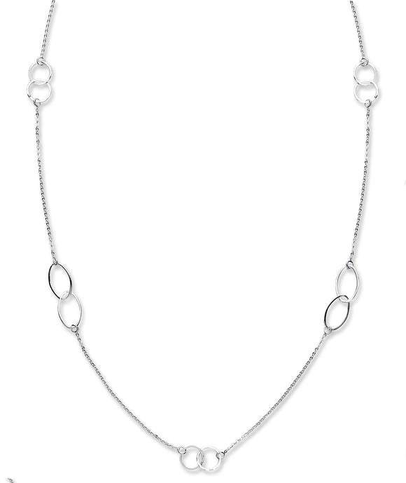 Sterling Silver Fancy Long Chain over the head Necklace - Mon Bijoux - Mon Bijoux