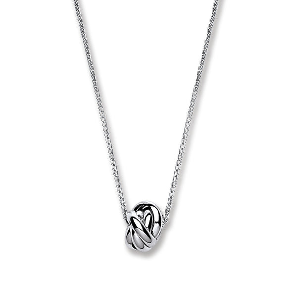 Drop Pendant Love Knot Sterling Silver Necklace - Mon Bijoux - Mon Bijoux