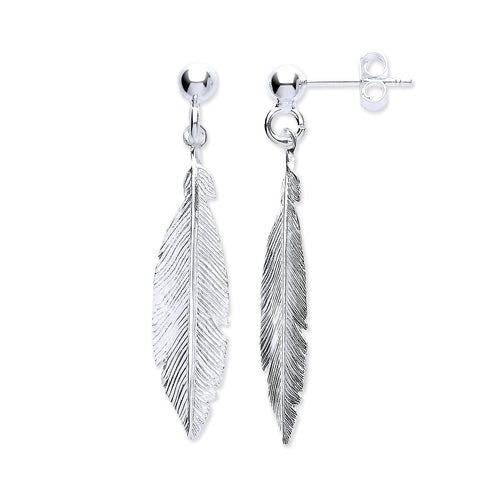 Feather Stud Earrings Sterling Silver - Mon Bijoux - Mon Bijoux
