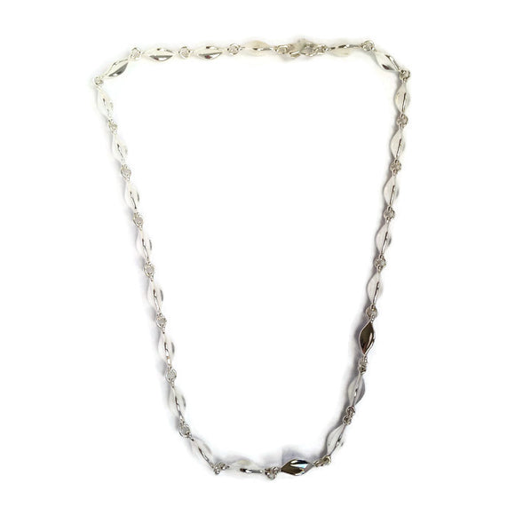 Saturn Moon Sterling Silver Link Necklace - Mon Bijoux - Mon Bijoux