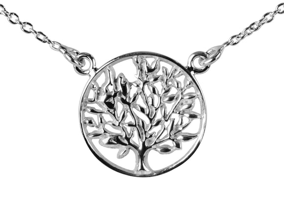 Sterling Silver Tree of Life Necklace - Mon Bijoux