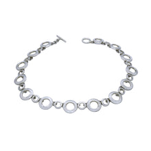 Load image into Gallery viewer, Lots Of Circles Silver Links Necklace - Mon Bijoux - Mon Bijoux