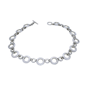 Lots Of Circles Silver Links Necklace - Mon Bijoux - Mon Bijoux