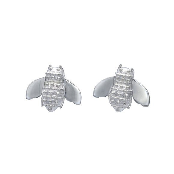 Bee Inspired Sterling Silver Stud Earrings - Mon Bijoux - Mon Bijoux