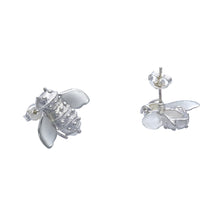 Load image into Gallery viewer, Bee Inspired Sterling Silver Stud Earrings - Mon Bijoux - Mon Bijoux