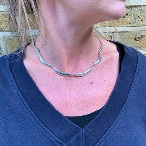 Boomerang Solid Sterling Silver Links Necklace - Mon Bijoux - Mon Bijoux