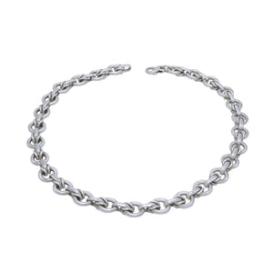 Circle Arrows Sterling Silver Links Necklace - Mon Bijoux - Mon Bijoux