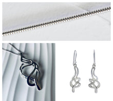 Load image into Gallery viewer, Sterling Silver Musical Clef Necklace and Earring Set - Mon Bijoux