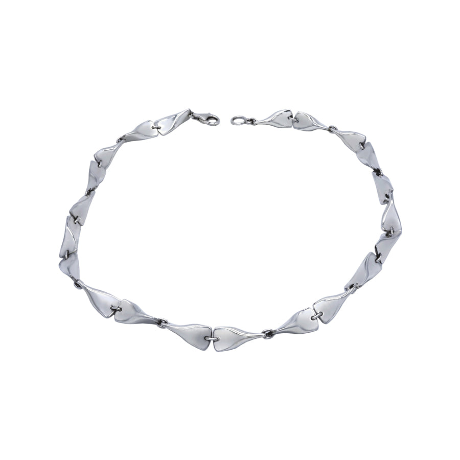 Flippers Sterling Silver Links Necklace - Mon Bijoux
