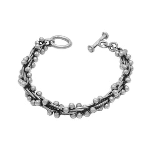 Large Grapes Silver Necklace Bracelet Set - Mon Bijoux