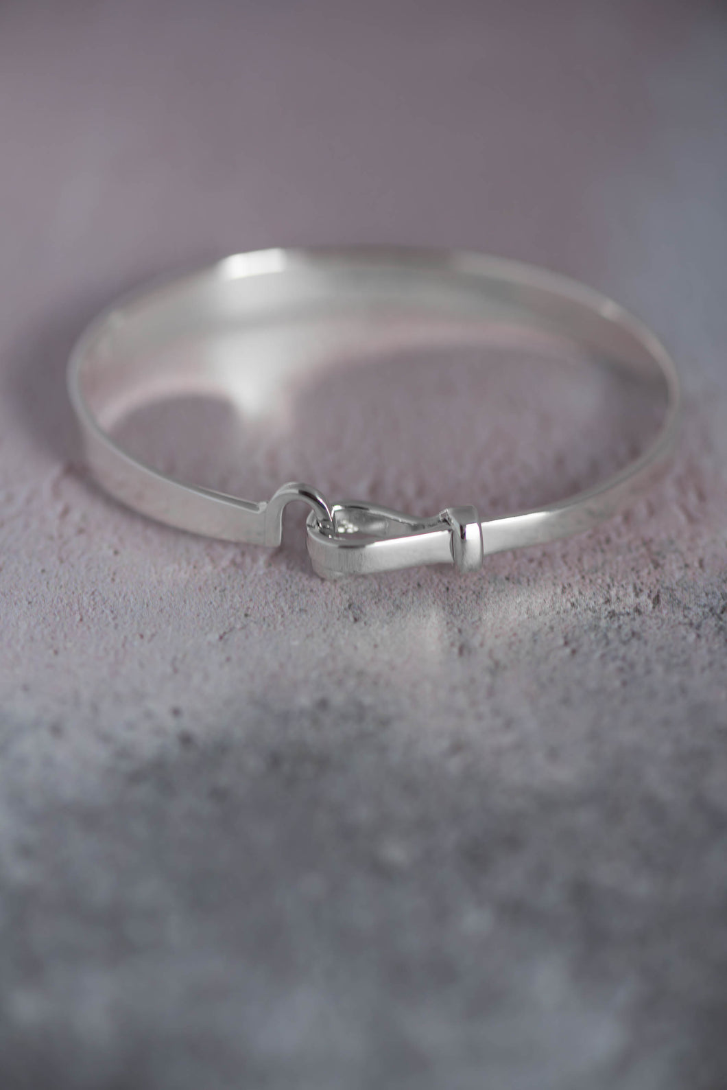 Hook and Ball Silver Bangle