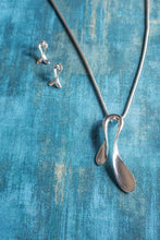 Load image into Gallery viewer, Horseshoe Sterling Silver Necklace and Earrings Set - Mon Bijoux - Mon Bijoux