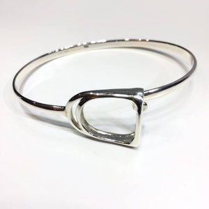 Sterling Silver Bracelet Bangle - Stirrup - Mon Bijoux