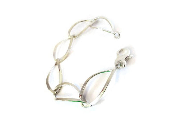 Dangle Open Sterling Silver Handmade Bracelet - Mon Bijoux - Mon Bijoux