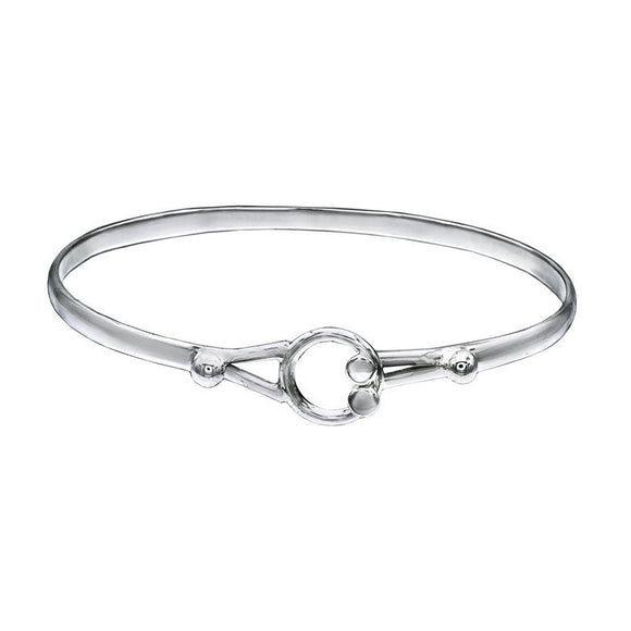 Eyes Sterling Silver Bangle - Mon Bijoux