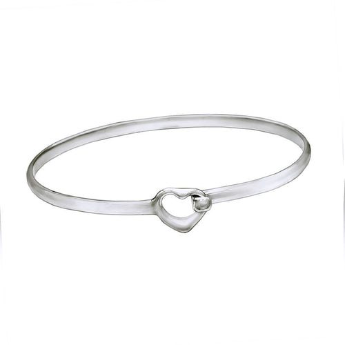 Tiny Wrist Small Clasp Open Heart Bangle - Mon Bijoux - Mon Bijoux