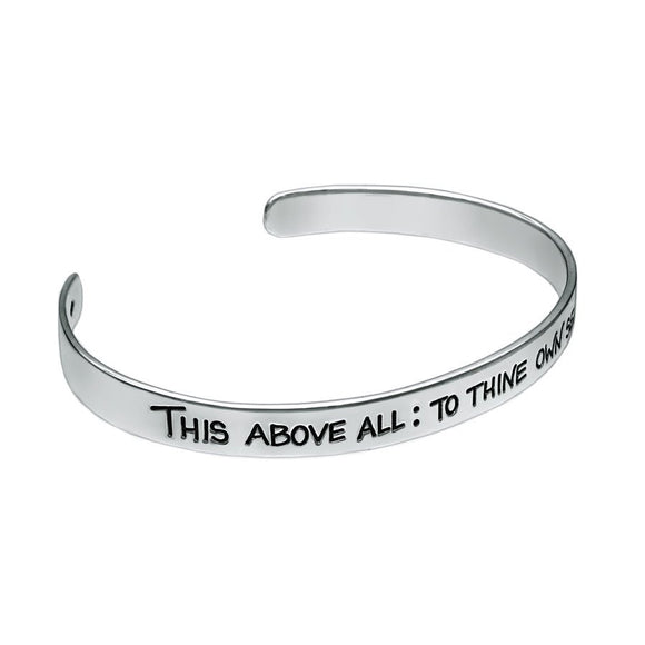 William Shakespeare Quotation Silver Cuff Bangle - Mon Bijoux - Mon Bijoux