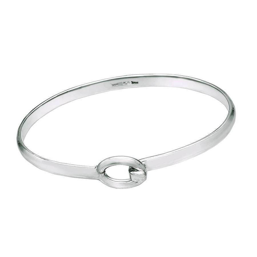 Small O Sterling Silver Bangle - Mon Bijoux