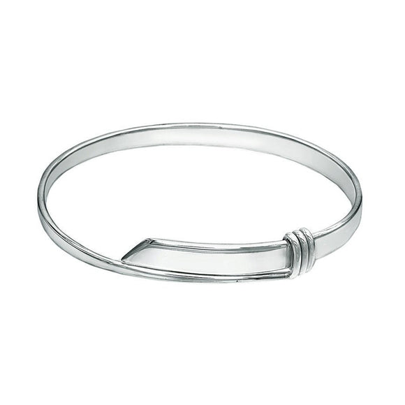 Belt Buckle Sterling Silver Bangle - Mon Bijoux