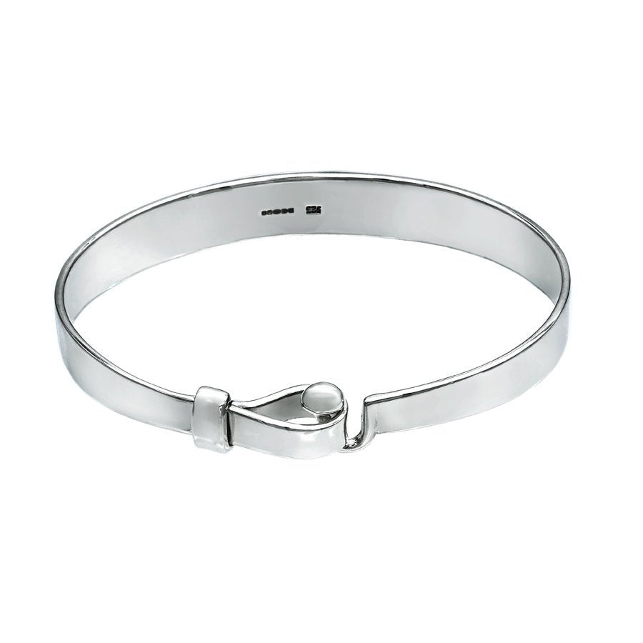 Hook and Ball Unisex Bangle - large wrist size - Mon Bijoux