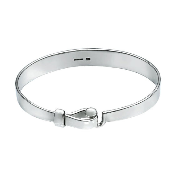 Hook and Ball Unisex Bangle - LG - Mon Bijoux