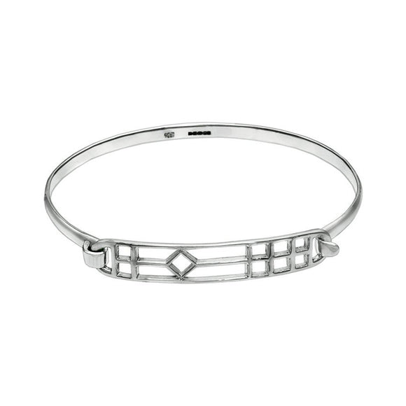 Sterling Silver Bracelet Bangle - Gate - Mon Bijoux