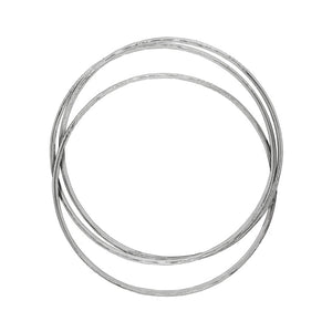 Traditional Russian Circles Silver Bangle Bracelet - Mon Bijoux