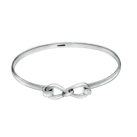 Personalized Bridesmaid Silver Bracelet Infinity Friendship Love Knot - Mon Bijoux
