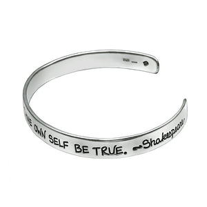 Shakespeare Quotation Silver Cuff Bangle - Mon Bijoux