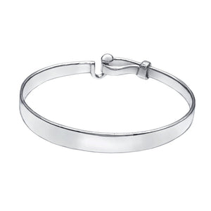 Hook and Ball Silver Bangle - Mon Bijoux