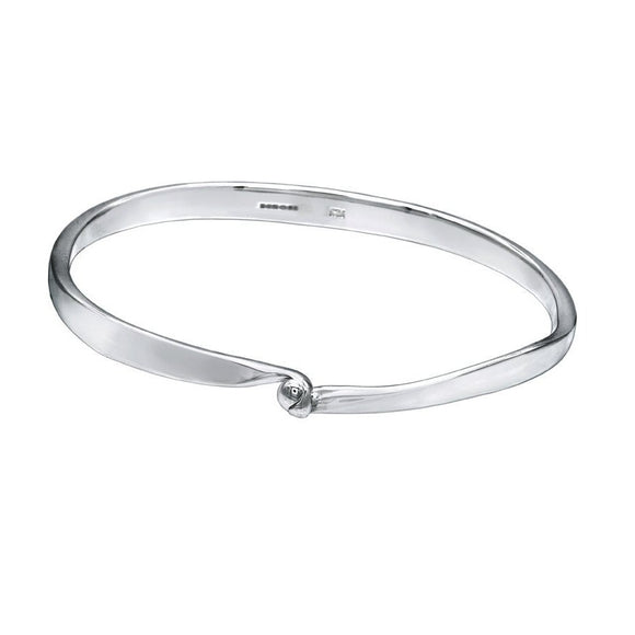 Handshake Bangle - Simple Sterling Silver Bracelet - Mon Bijoux - Mon Bijoux