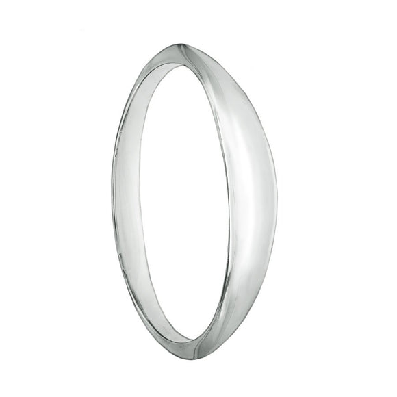 Flying Saucer UFO Style Solid Silver Bracelet Bangle - small - Mon Bijoux