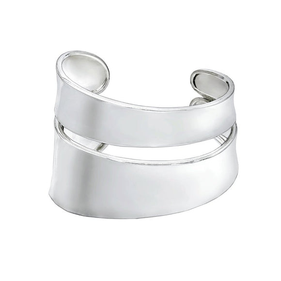 Smile Bangle - Large Statement Sterling Silver Cuff - Mon Bijoux - Mon Bijoux