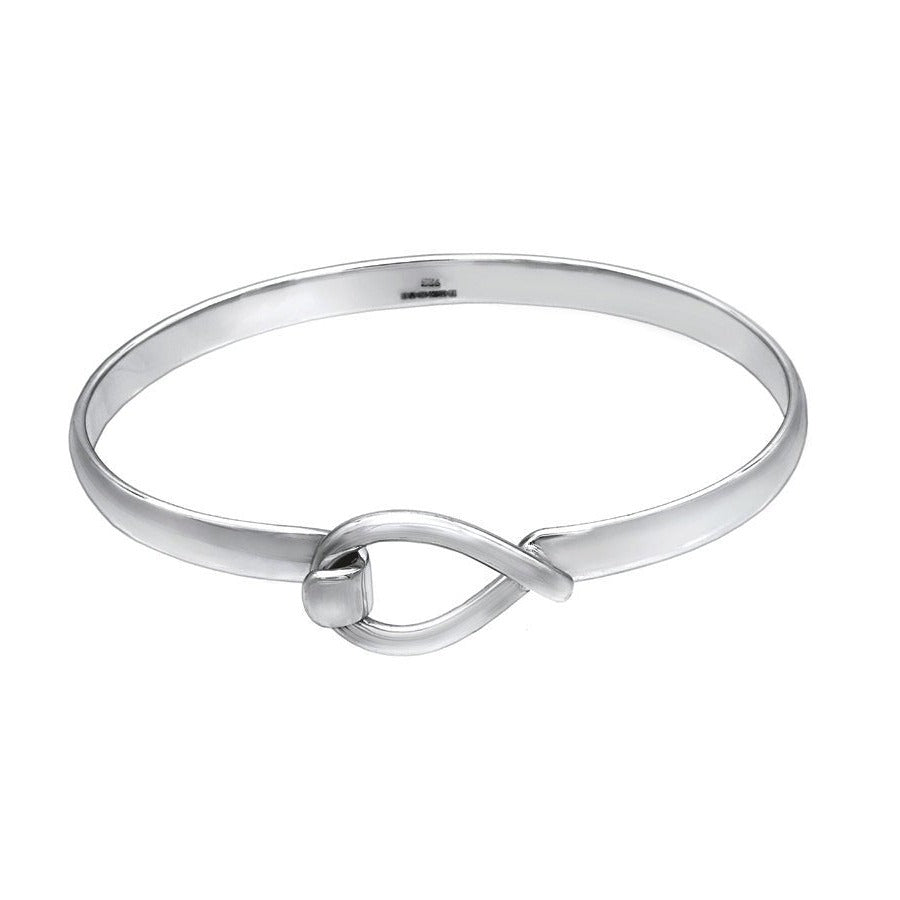 Fat Fish Silver Bangle - Large - Mon Bijoux
