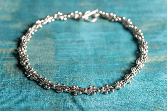 Sterling Silver Spratling Peppercorn Necklace - Mon Bijoux