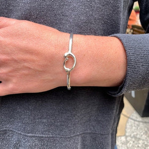 Mother and Baby Silver Bangle - Mon Bijoux