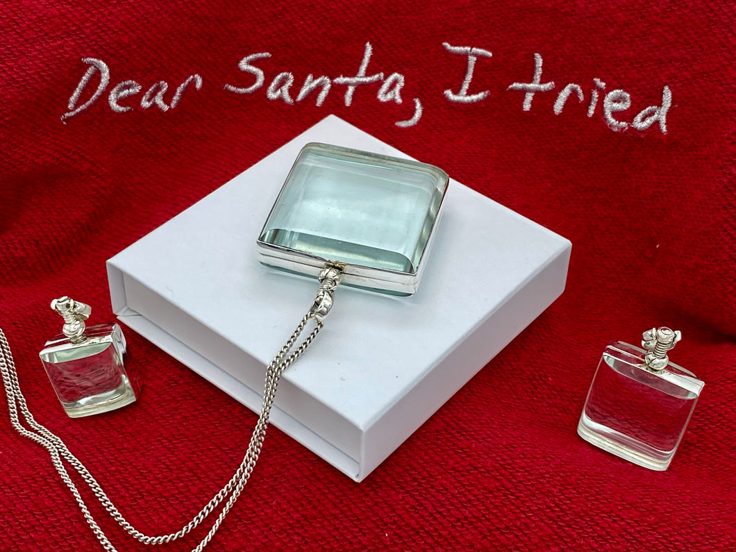 Square Lockets for Christmas, Hair Keepsake, Engraved Photo Locket, Personalised Glass Locket, christmas jewelry ideas, secret santa ideas