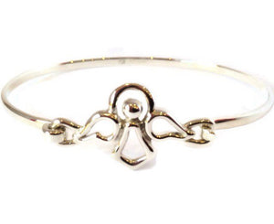 Sterling Silver Bracelet Bangle - Angel - Mon Bijoux