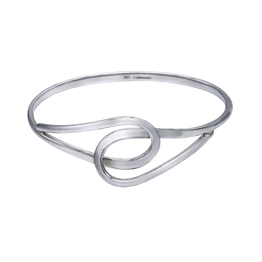 Interlocking Teardrops Bangle