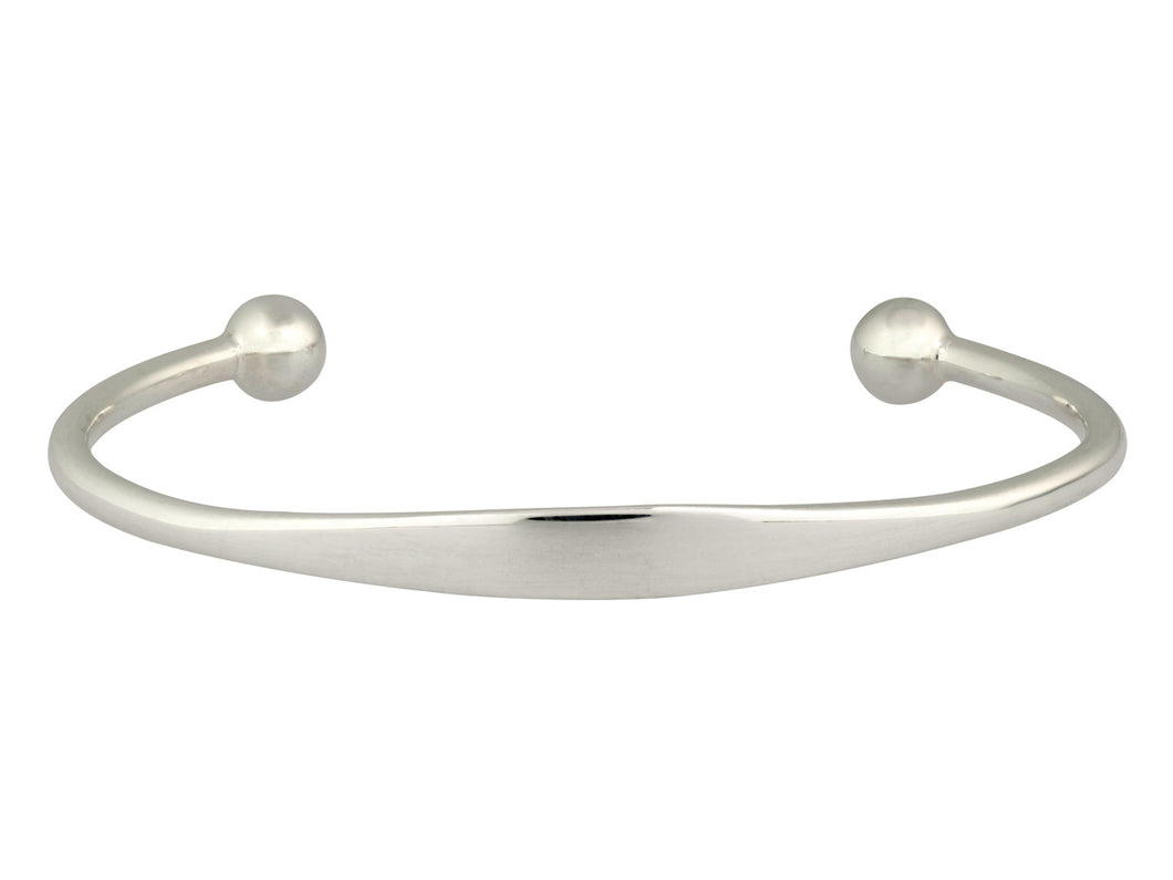 Mini Silver Surfer Tiny Cuff Bangle