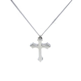 Large German Inspired Iron Cross Silver Pendant - Mon Bijoux - Mon Bijoux
