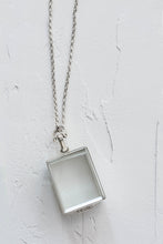 Load image into Gallery viewer, Silver Glass Photo Locket Rectangle