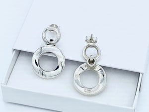 Orions Belt Sterling Silver Stud Drop Earrings - Mon Bijoux