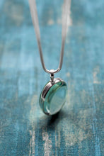 Load image into Gallery viewer, Circle Sterling Silver and Antique Glass Locket - Mon Bijoux - Mon Bijoux
